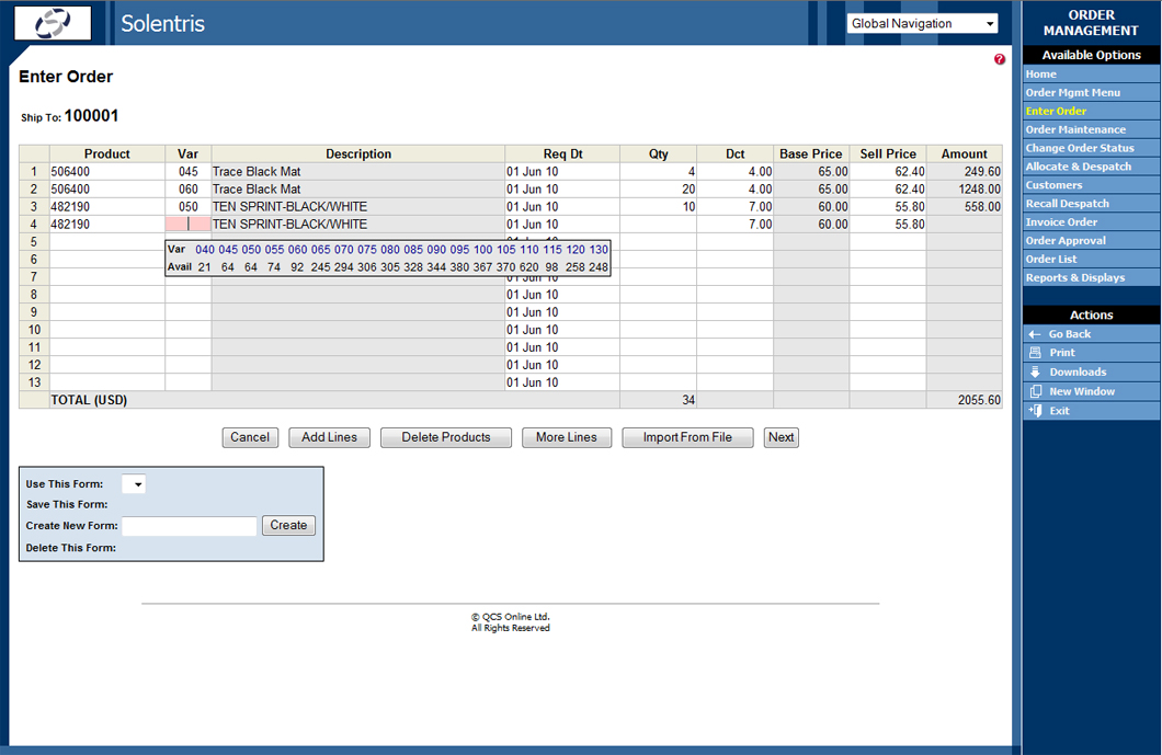 Order Management – Multiple Options for Order Entry – Solentris ...